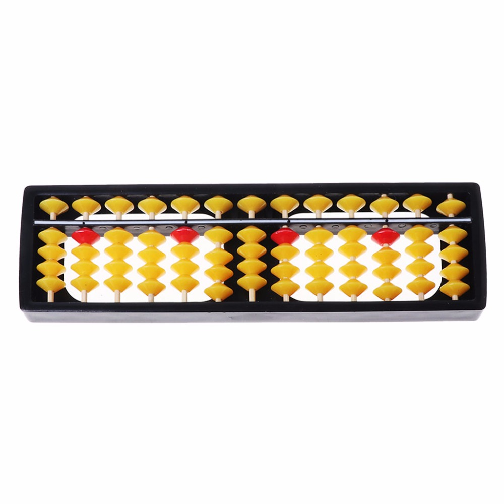 Abacus Soroban Beads Column Kid School Learning Tools Educational Math Toys