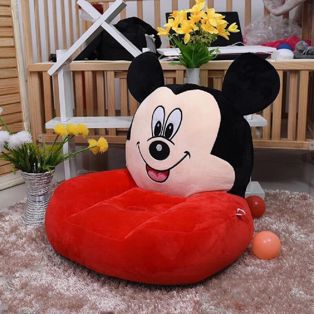 Baby Seats Sofa Baby Cartoon Red Animal Children Chair Baby Kids Toys Sofas With Diy Sewing Cotton Fillers Filling Material