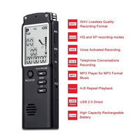 Noise Cancelling Voice Recorder MP3 Music Player Time Display Recording Digital High definition Audio Recorder Dictaphone Pen