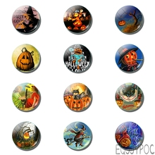 12pcs Halloween Fridge Magnet All Saints' Day Hallowmas Cat Pet 25MM 30MM Glass Magnetic Refrigerator Stickers Home Decor iwish halloween wind up green ghost goblin zombies jump vampire winding walking frankenstein jumping kids toys all saints day