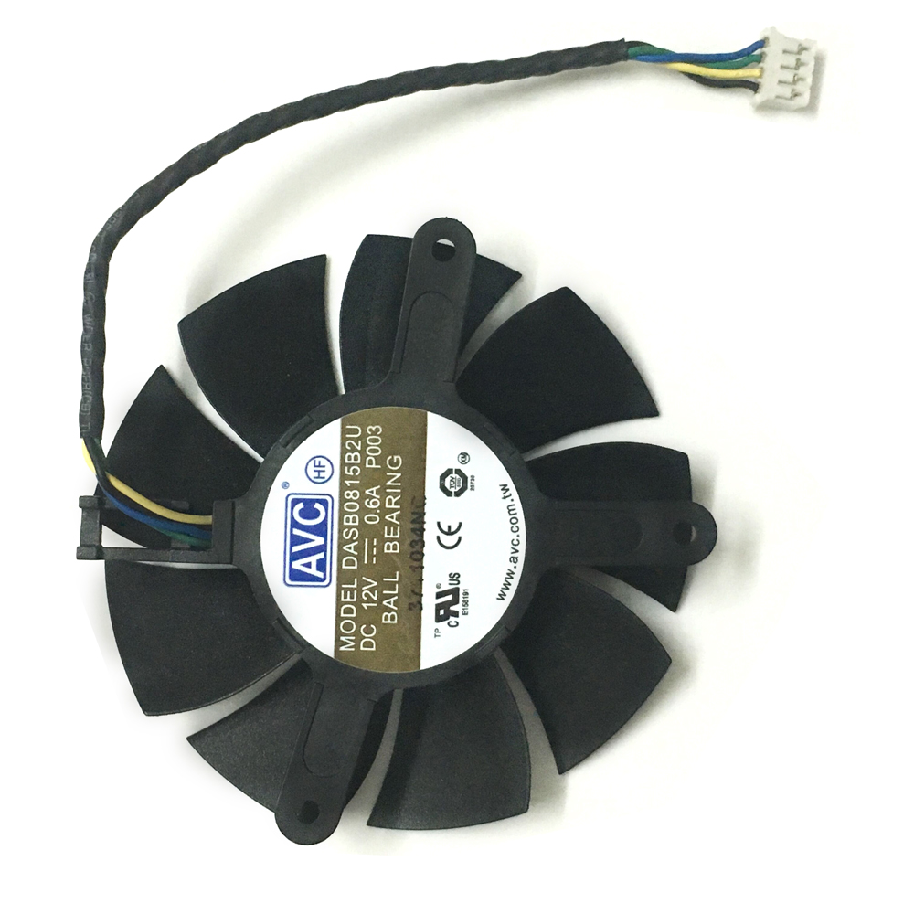 Cooling Fan Cooler Graphics Card Fan for Sapphire R9-370X//270//280//280X//285 85MM