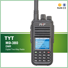 Free Shipping Original TYT UHF 400-480MHZ 1000 CHS DMR Wireless Walkie Talkie MD-380 with Cable and Software