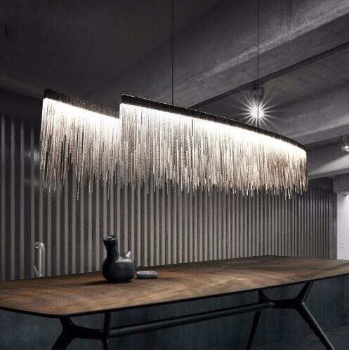 Moderne Aluminium Chain Eetkamer Hanger Verlichting Kwastje Drop ...