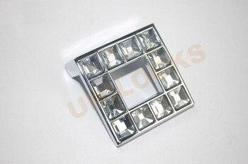 UNILOCKS 10Pcs K9 Crystal Glass Furniture Hardware Cabinet Handle Drawer Knobs (C.C:32mm)