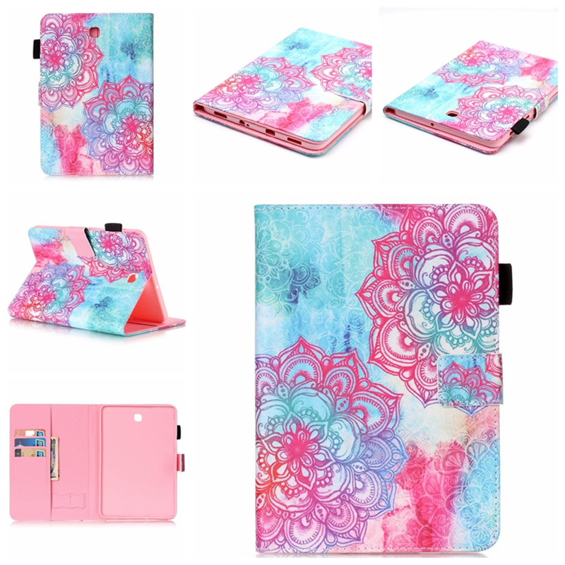 Tab S2 8.0'' Stand Print Leather Case for Samsung Galaxy Tab S2 8.0 T710 T715 Magnet Tablet Cover Case with Card Slot Protector tx soft pink black tpu back case color print tablet cover for samsung galaxy tab s2 9 7 t815c t819c t810 t813 with card slot