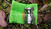 Titanium Ti alloy Outdoor Mni Portable One-Piece Butane gas Burner for Camping Exploration 25g/pc