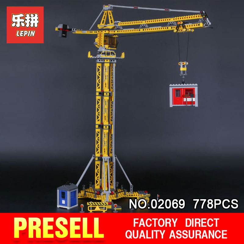 Lepin 02069 778Pcs City Series Lifting Machine Building Crane Set 7905 Building Blocks Bricks gifts Model for Children Toys a toy a dream lepin 02043 718pcs building blocks bricks new genuine city series airport terminal toys for children gifts