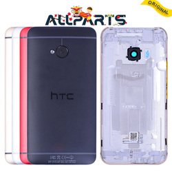 Single SIM Original Housing For HTC One M7 Back Cover Battery Door with Camera Lens Replacement Red Gold Silver 801e 801n 801s