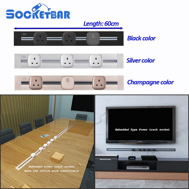 Factory Fashion 60cm Emmeded Type Usb Wall Socket Tomada Electric LED Light Living Room Meeting RoomFactory Fashion 60cm Emmeded Type Usb Wall Socket Tomada Electric LED Light Living Room Meeting Room