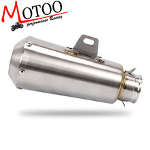 Motoo-Universele Prestaties Inlaat 51mm Motorfiets Uitlaat Pijp Rvs VOOR 125CC-1200CC Straat/Sport/Racing(China)