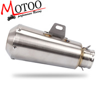 Motoo Universal Performance Inlet 51mm Motorcycle Exhaust Muffler Pipe Stainless Steel FOR 125CC 1200CC Street/Sport/Racing