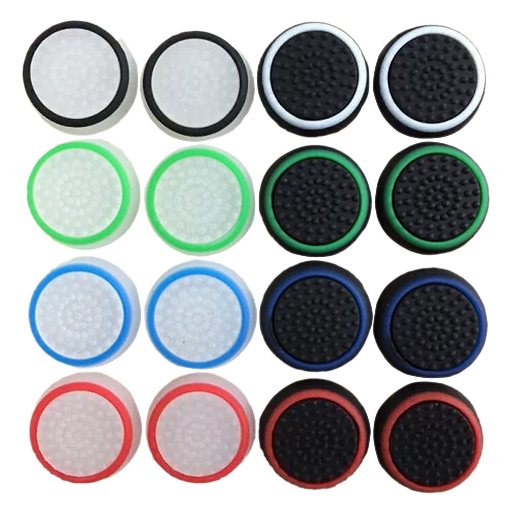 Obraz przedstawiający 16pcs/8 Pairs Game Accessory Protect Cover Silicone Thumb Stick Grip Caps for PS4/ Xbox 360/ PS3 /Xbox one Game Controllers