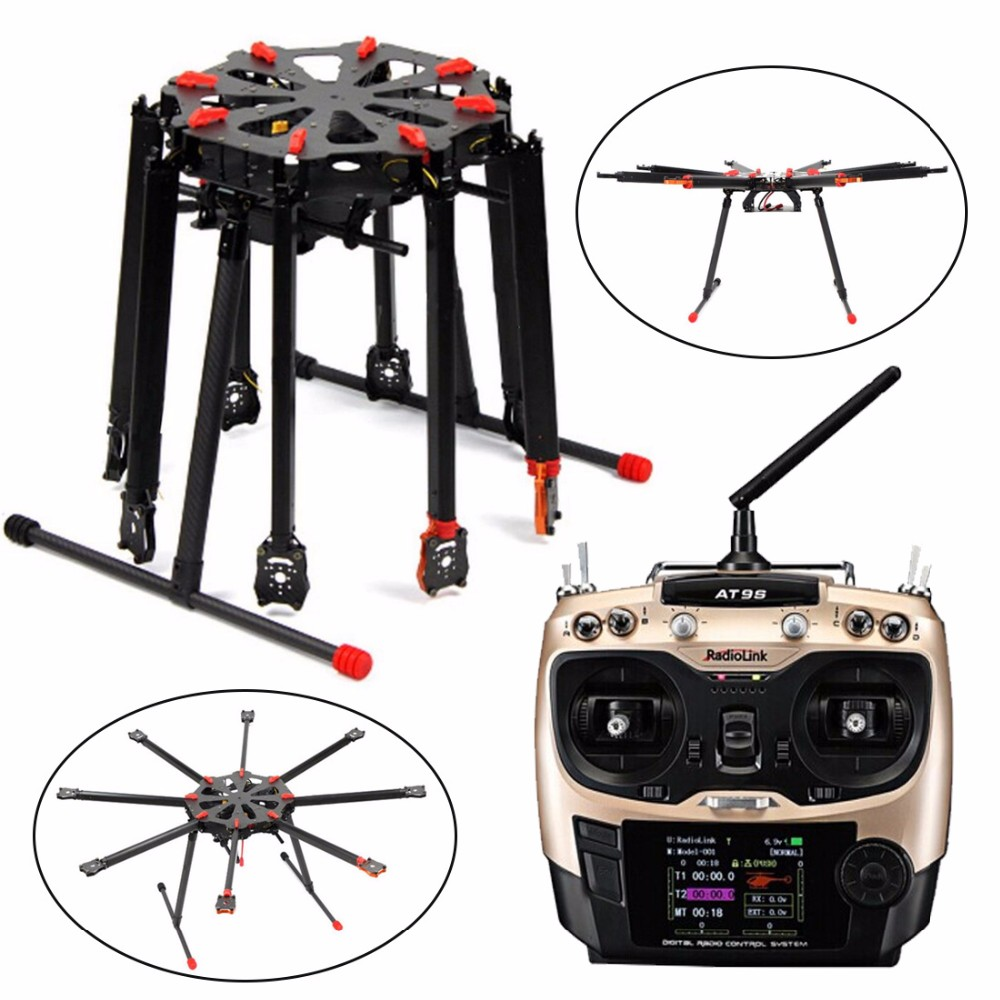 Image 4 - DIY GPS Drone Tarot X8 TL8X000 8 Axis Folding Frame 350KV 40A PX4 32 Bits Flight Controller Radiolink AT9S Transmitter F11270 D-in RC Helicopters from Toys & Hobbies on AliExpress
