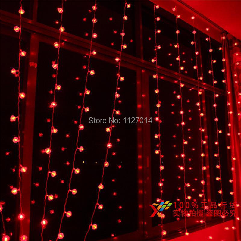 aliexpresscom buy fairy 3 3m 300 red lantern bulbs curtain cortina de led lamp string lights indoor garland party christmas decoration lighting from - Christmas Light Garland