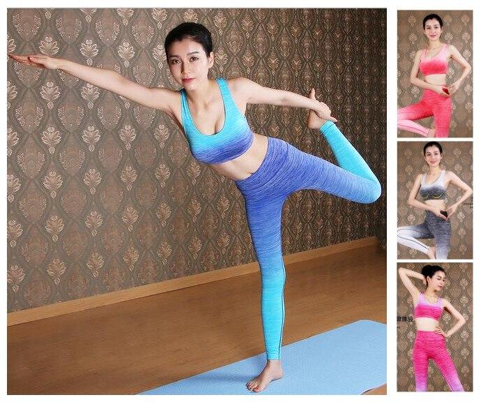 2016 Women Gym Fitness Bodybuilding High Waist Gym Running Women's Yoga sets Slim Female Workout Sport Running Clothes
