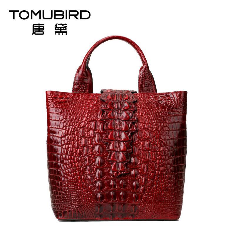 Brown Aus Handtaschen Qualität Luxus green black Echtem Tasche Alligator Schulter blue Frauen Mode Leder Grain Neue Designer 2017 red 0FwxqF6