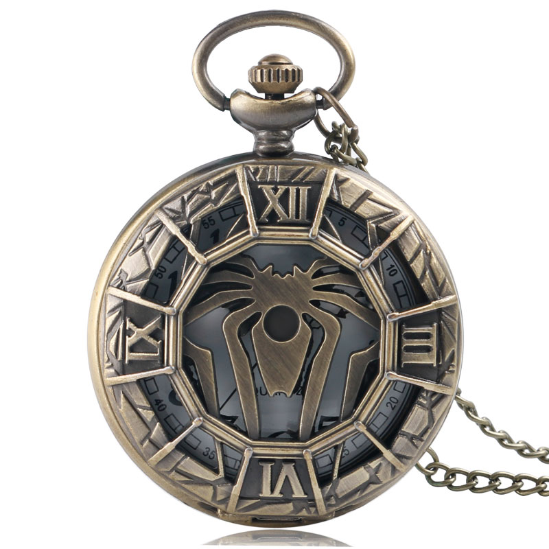 2020 New Unique Hollow Spider Bronze Pocket Watch Necklace Pendant House Greyjoy Of Pyke Family Crest We Do Not Sow Clock Gift