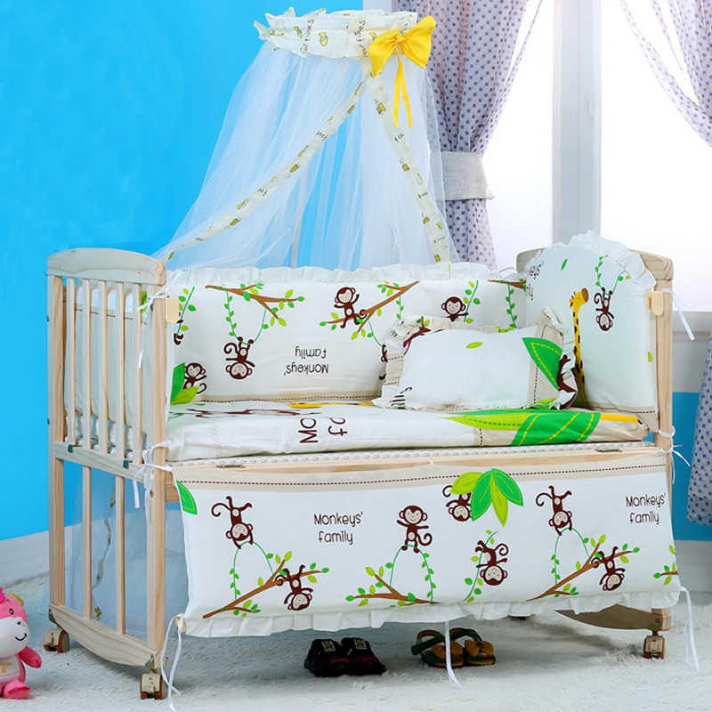 f87532f9034c Aliexpress.com   Buy 5PCS 100X60 Cotton Baby Boy Crib Bedding Set ...