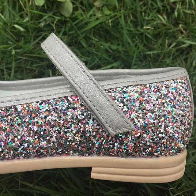 Princess Children s shoes girls Ballet dancers pink silver gold dance shoes  glitter pu leather toddler kids 015b73416bd3