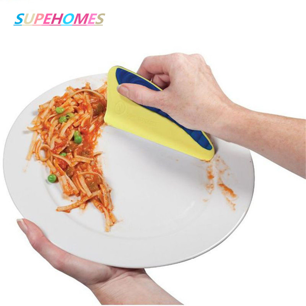 Household Cleaning Hot Sale Silicone Pan Cleaning Scraper Pastry Spatulas Cake Baking Dish Squeegee Washing Food Pan Cleaning Scraper Cooking Tools Household Cleaning Tools