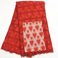 En línea tienda de telas de Alta calidad tela de encaje Guipur telas del vestido de Boda del color del Oro Del Cordón Espinal para Nigeriano amarillo rojo naranja