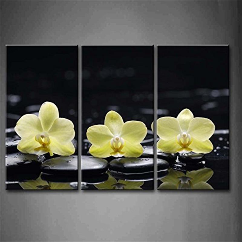 lienzo cuadros para dormitorio wall art flower imagen hd pintura de la lona de color amarillo