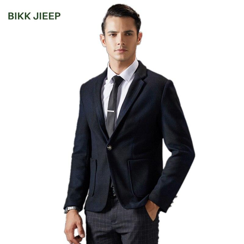 Winter Wool Coat Men Slim Fit Jackets Casual Mens Overcoat Long Warm Plaid Wool & Blends Single-Button Pea Coat Wool Coats Men