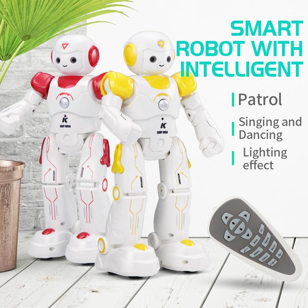 JJRC RC Robot jouets danse Sin lumière LED clignote programme Intelligent enfants cadeau de noël Playmate un clic démo Parade - 2