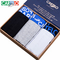 Cartelo brand men 's stretch cotton plain underwear U convex comfort four - corner shorts gift box