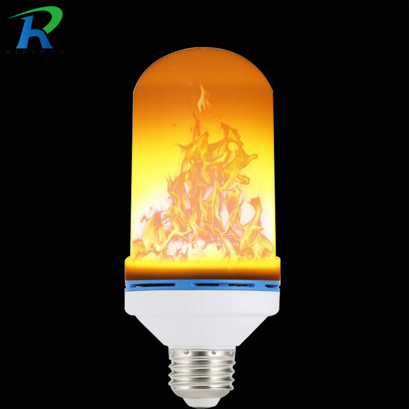 2017 New arrival E27  Led Flame Lamps LED Flame Effect Light Bulb 85~265V Flickering Emulation Fire Lights 9W Decorative Lamp