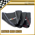 Car-Styling Car Styling For Mitsubishi Ralliart Gear Shift Knob Cover Leather Gaiter Sleeve Glove Collars