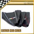Carro-styling styling carro para mitsubishi ralliart deslocamento de engrenagem knob capa de couro polainas sleeve luva coleiras