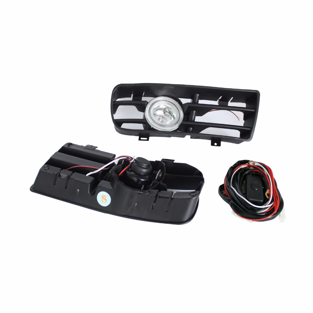 LED Car Bumper Grille Fog Lights Angel Eyes Fog Lamp Bulb with Wire Kit For VW Volkswagen GOLF 4 GTI TDI R32 MK4 1998-2004 50pcs d71055c