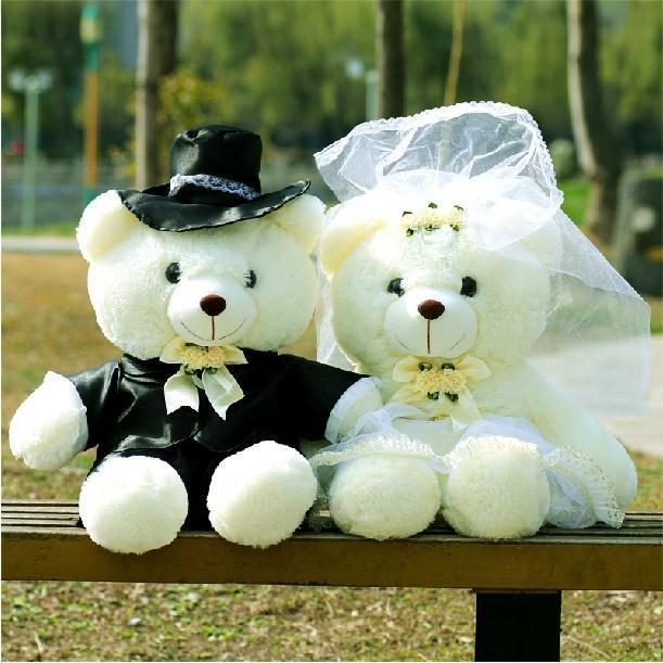 A Couple Of Teddy Wedding Lovers Bears,60CM,Birthday