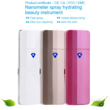 Free Shipping Face Care Skin Moisture Facial Nebulizer Nano Handy Mist Mini Ionic Facial Steamer Spray