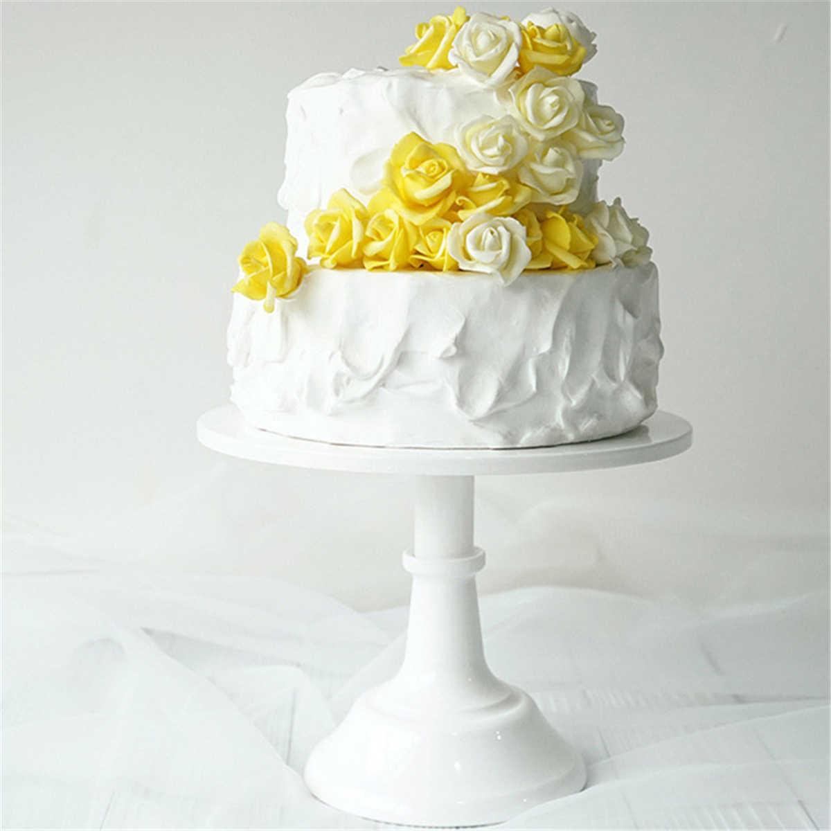 10 Inch Iron White Cake Stand Round Pedestal Dessert Holder Cupcake Display Rack Birthday Wedding Party Decoration Bakeware Stands Aliexpress
