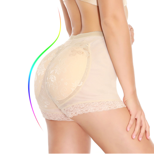 d7ef656f37218 NINGMI Padded Big Ass Control Panties Seamless Boyshort Women Underwear  Sexy Hip Enhancer Hot Body Shaper