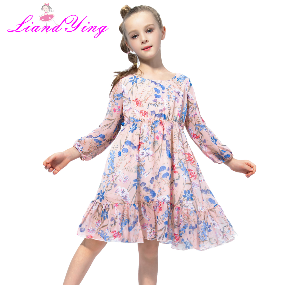 Flower     Girls     Dress   Long Sleeve Party Birthday 2018 Summer Autumn Princess Wedding   Dresses   Clothes Size 2-12 Yrs