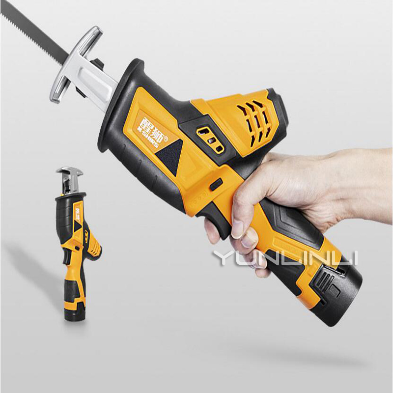 Reciprocating Saw Electric Chainsaw Home Woodworking Multi function Rechargeable Small Handheld Lithium Electric Saw JOL KY 15