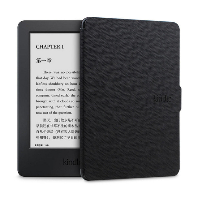 on sale 229ab 1f1a2 US $11.82 9% OFF|Slim ebook Case For Amazon New Kindle 8th Generation 2016  version flip Case Shell PU Leather Cover For Kindle 8 K8 2016-in Tablets &  ...