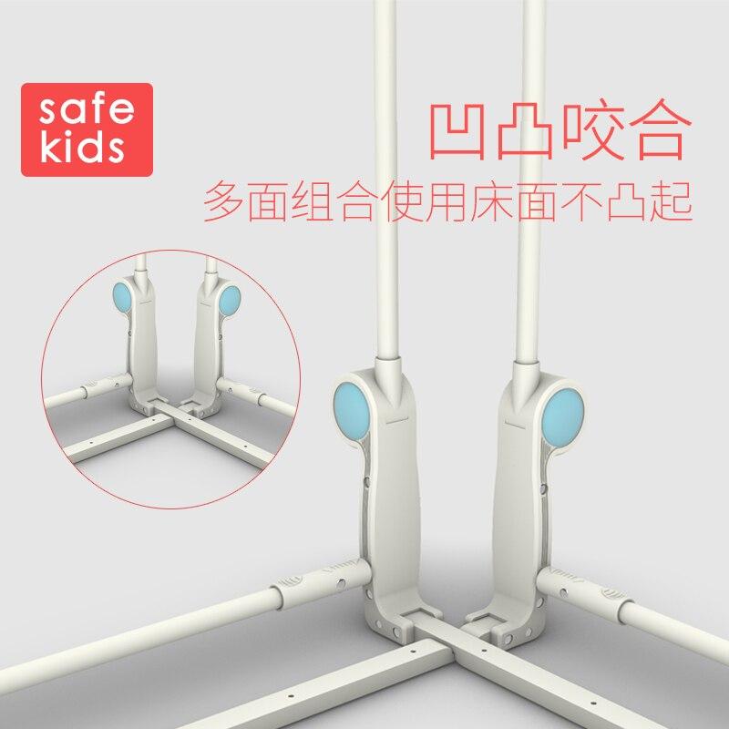 Lit bébé incassable garde corps hauteur 68cm lit style pliant 0.9 2m chevet anti rupture enfant cloison de sécurité - 4