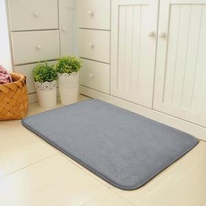 Link for XXX Living room/bedroom Area Rugs Gray Memory Foam Kitchen Absorbent Antiskid Mat Coral Velvet Home Entrance Carpets(China)