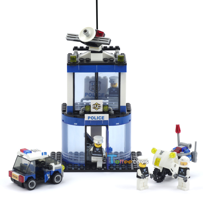 City Police Station Series Assembling Building Blocks Plastic Educational building bricks Toys for children Christmas gift sermoido 02012 774pcs city series deep sea exploration vessel children educational building blocks bricks toys model gift 60095