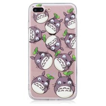 Transparent Cover with Totoro for iPhone