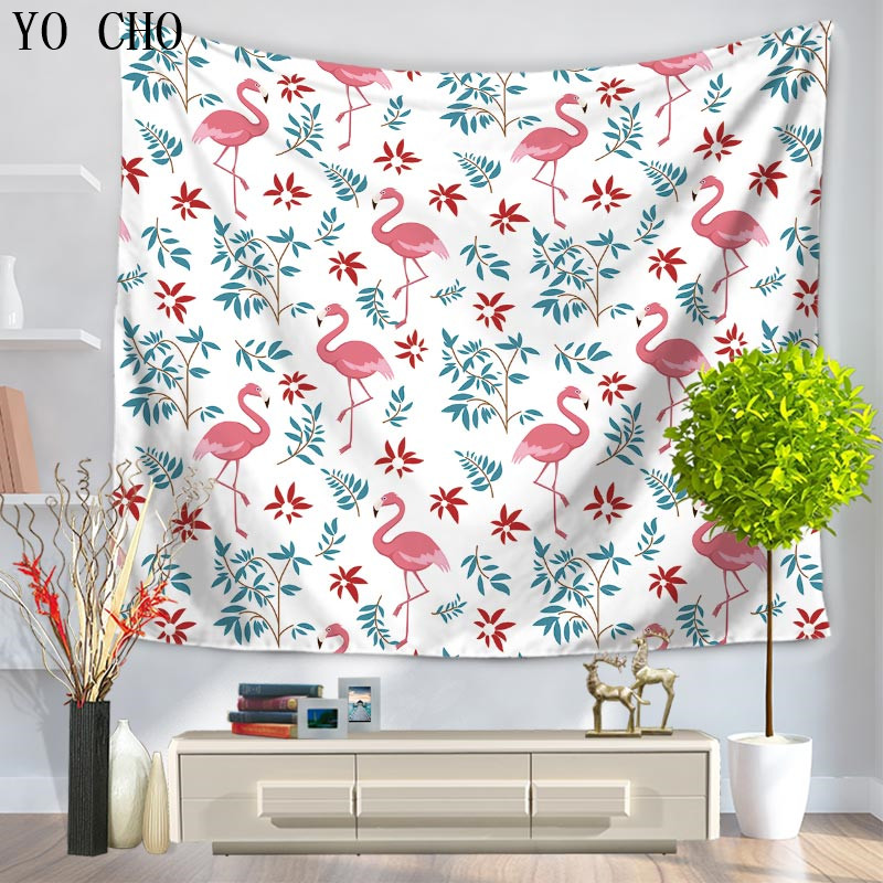 Bedroom Door Curtain Bedroom Wall Decoration Ideas Pinterest Bedroom Paint Colors Images Bedroom Design Kerala Style: YO CHO Colorful 3D Printed Crane Tapestry Home Decor Wall