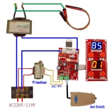 NY-D04 40A цифровой дисплей точечной сварки времени и тока Панель управления синхронизации Амперметр точечной сварки плата управления