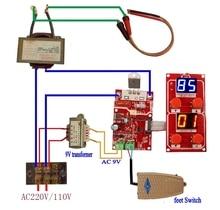 NY D04 40A dijital ekran nokta kaynak süresi ve akım kontrol paneli zamanlama ampermetre nokta kaynakçı kontrol panosu