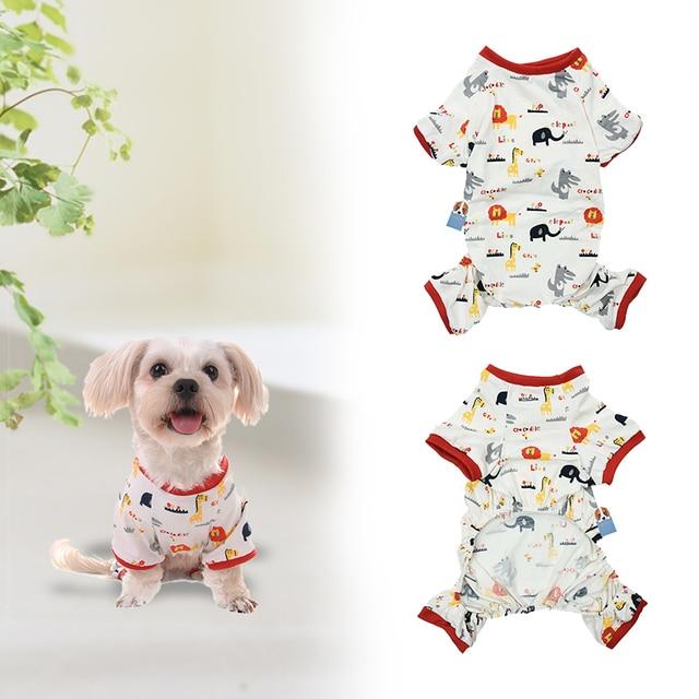 Ropa de perro rojo recortado perro ocio multifuncional inicio ropa ...