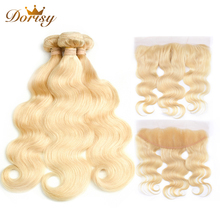613 Blonde Bundles With Frontal Malaysia Body Wave With Frontal Remy Blonde Human Hair Lace Frontal Closure With Bundle