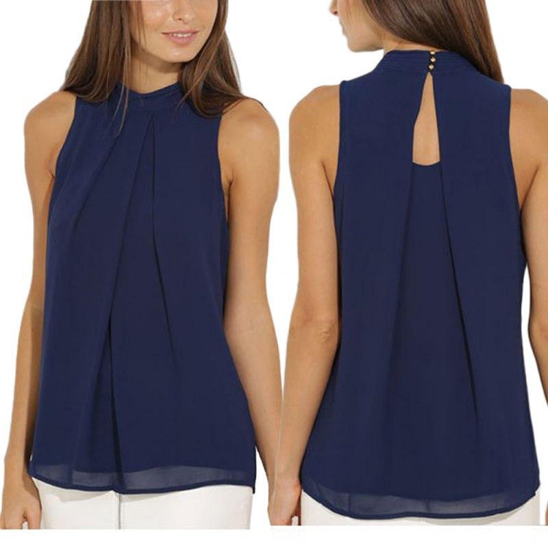 2fa78ccb36cc1a Detail Feedback Questions about Women Blouse Summer Women Tops Brand Plus  Size Casual Navy Blue Chiffon Blouse Elegant Lady Shirts Blusas M L XL  KH865031 on ...